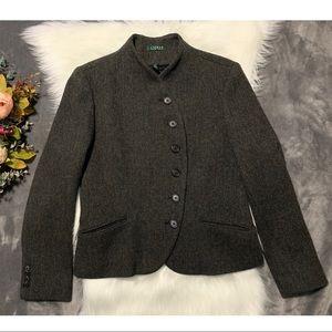 VNTG Ralph Lauren Riding Jacket Sz 12 Herringbone